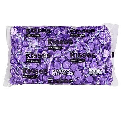 KISSES Milk Chocolates, Purple, 66.7 Ounces (246-00243)