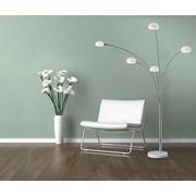 Adesso® 3346-22 Luna Arc Lamp, 5 x 40 W, Satin Steel