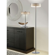 Adesso 5164-22 Wilshire LED Floor Lamp, satin steel