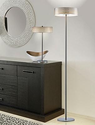 Adesso 5164-22 Wilshire LED Floor Lamp, satin steel