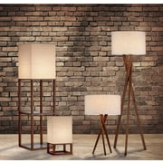 Adesso 3226-15 Brooklyn Incandescent Table Lamp, Light Walnut