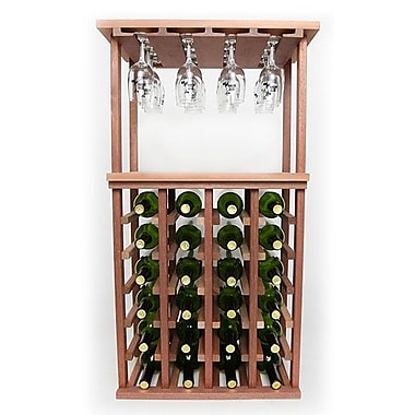Wineracks.com 24 Bottle Floor Wine Rack; Mahogany