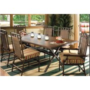 Woodard Chatham Dining Side Chair w/ Cushion; Sunbrella Bamboo Natural