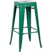Edgemod Trattoria 30'' Bar Stool (Set of 4); Dark Green