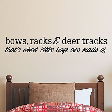 SweetumsWallDecals Bows Racks and Deer Tracks Wall Decal; Black