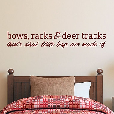 SweetumsWallDecals Bows Racks and Deer Tracks Wall Decal; Cranberry