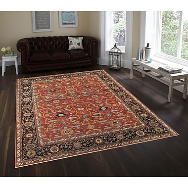Pasargad Ferehan Hand-Knotted Rust/Navy Area Rug; 12' x 15'