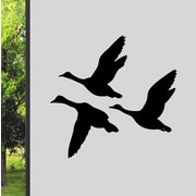 SweetumsWallDecals Flying Ducks Wall Decal; Black