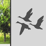 SweetumsWallDecals Flying Ducks Wall Decal; Dark Gray