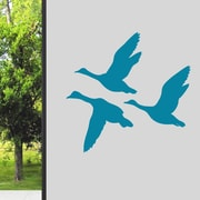 SweetumsWallDecals Flying Ducks Wall Decal; Teal