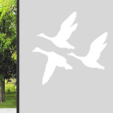 SweetumsWallDecals Flying Ducks Wall Decal; White