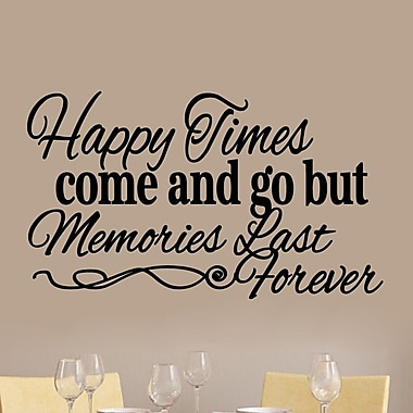 SweetumsWallDecals Happy Times Come and Go Wall Decal; Black