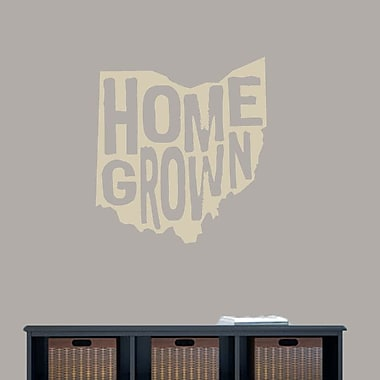 SweetumsWallDecals Homegrown Ohio Wall Decal; Beige