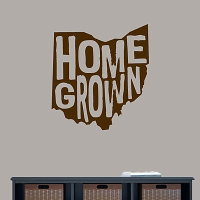 SweetumsWallDecals Homegrown Ohio Wall Decal; Brown