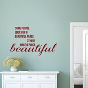 SweetumsWallDecals Make a Place Beautiful Wall Decal; Cranberry