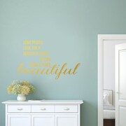 SweetumsWallDecals Make a Place Beautiful Wall Decal; Gold