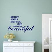 SweetumsWallDecals Make a Place Beautiful Wall Decal; Navy