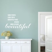 SweetumsWallDecals Make a Place Beautiful Wall Decal; White