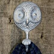 MarktSq Owl Wall Hook; White/Gold