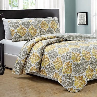 RT Designer's Collection Mystique 3 Piece Reversible Quilt Set; King
