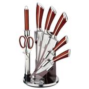 IMPQ 8 Piece Knife Set; Brown