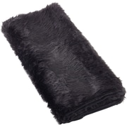 Rosdorf Park Loraine Faux Fur Throw Blanket; Black