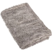 Rosdorf Park Loraine Faux Fur Throw Blanket; Gray