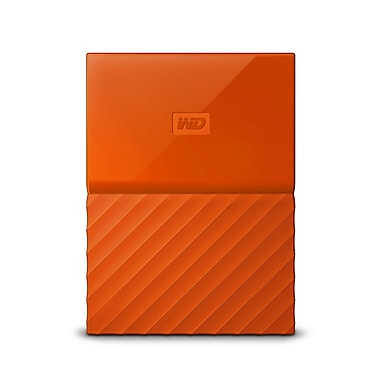 WD - Disque dur portable My Passport 3 To, orange (WDBYFT0030BOR-WESN)