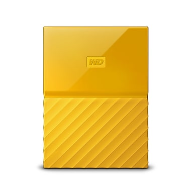 WD - Disque dur portable My Passport 2 To, jaune (WDBYNN0020BYL-WESN)