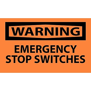 Warning, Emergency Stop Switches, 3