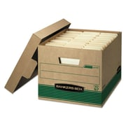 Bankers Box Stor/File Medium-Duty FastFold 100% Recycled Storage Boxes with Lift-Off Lid, Letter/Legal, 12/Ct (12770)