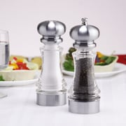 Chef Specialties Westin Pepper Mill and Salt Shaker Set; 7'' H x 4.75'' W x 2.38'' D