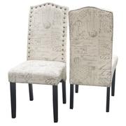 Merax Script Fabric Side Chair (Set of 2)