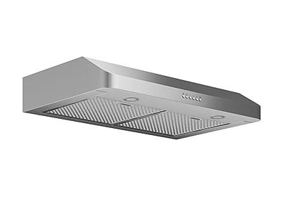 Ancona Slim SP 30'' 280 CFM Ducted Under Cabinet Range Hood; Stainless Steel