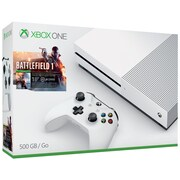 Xbox One S Battlefield 1 Console Bundle, 500GB, White