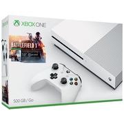 Ensemble incluant la console XBox de 500 Go et Battlefield 1