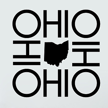 SweetumsWallDecals OHIO Wall Decal; Black