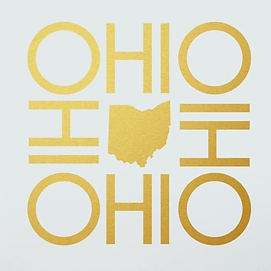 SweetumsWallDecals OHIO Wall Decal; Gold