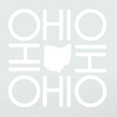 SweetumsWallDecals OHIO Wall Decal; White
