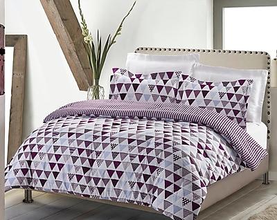 NMK Textiles, INC Swank Mod Pyramids 3 Piece Quilt Set; King