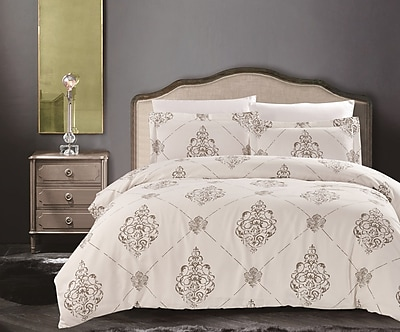 NMK Textiles, INC Uptown Luxe Madison 3 Piece Duvet Cover Set; King