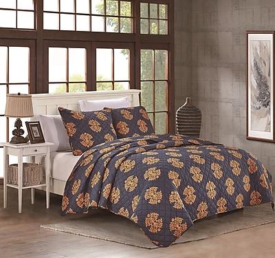 NMK Textiles, INC Uptown Luxe Grand 3 Piece Quilt Set; Full/Queen