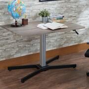 ACME Furniture Inscho Writing Desk; Gray Oak