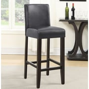Roundhill Furniture Citylight 29'' Bar Stool (Set of 2); Gray