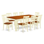 Darby Home Co Beesley 9 Piece Wood  Dining Set; Buttermilk