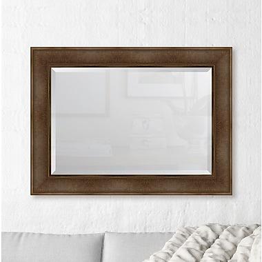 Melissa Van Hise Dark Walnut Wall Mirror; 45'' H x 33'' W x 2.5'' D