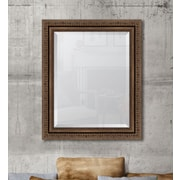 Melissa Van Hise Antique Bronze Wall Mirror; 35'' H x 29'' W x 2.5'' D