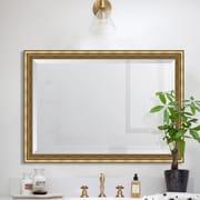 Melissa Van Hise Gold Ornate Wall Mirror; 42'' H x 30'' W x 2.5'' D