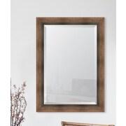 Melissa Van Hise Bronze Reverse Slant Wall Mirror; 43.25'' H x 31.25'' W x 2.5'' D