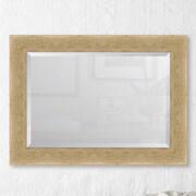 Melissa Van Hise Montecito Ivory Bark Edge Wall Mirror; 49'' H x 39'' W x 1.13'' D